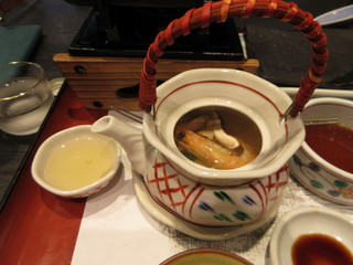 毛利志満 近江八幡本店 - 季節の一品 松茸の土瓶蒸し