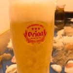 仲泊海産物料理店 - 生ビール
