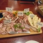 74890551 - 肉の全部盛り的な前菜(?)
