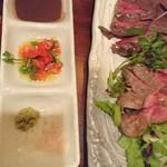 肉酒場ビストロ男前 - ステーキ2種