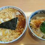 城山東家 - 卵とじ ,ミニ天丼