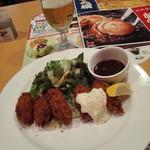 ガスト - カキフライと生ビール