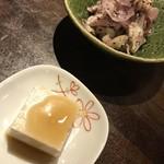 74896920 - お通しの胡麻豆腐