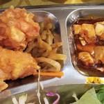 74899497 - 食べ放題の唐揚げと麻婆豆腐