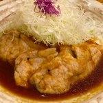 とんかつのあさ川 - 豚の生姜焼き