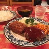 河鹿 - 料理写真:ランチ Aセット @810円 味噌汁からはホカホカな湯気が…!お値段も味も昔ながらな洋食セット。