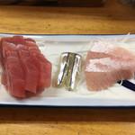 74901199 - 魚河岸定食に付いてくる刺身