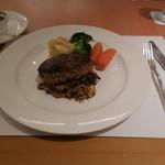 SATSUKI - おろしポン酢ソースのハンバーグステーキです。