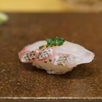 寿司つばさ - 深海のイサキ!めっちゃ美味い!