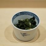 寿司つばさ - 若芽と鮑の肝ソース