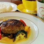 オリーブ牛&オリーブ夢豚のハンバーグ 讃岐からし味噌ソース