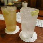 酒肆 一村 - 苦味レモンサワーと名代レモンサワー