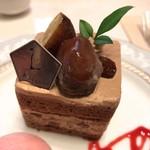 74910240 - 栗と葡萄のチョコレートシフォンケーキ