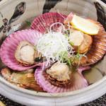 ごんぱち - 【こだわり貝】県産ヒオウギ貝の吟醸蒸し