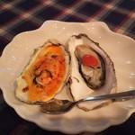 キュイジーヌ・アイ - 三陸産殻つき牡蠣の軽いグラタン仕立て