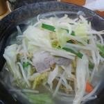 74916940 - タンメン野菜大盛700円(税込)+国産岩のり150円(税込)を注文!                       岩のりは別皿での提供でした。