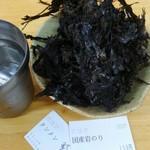74916943 - タンメン野菜大盛700円(税込)+国産岩のり150円(税込)を注文!                       岩のりは別皿での提供でした。