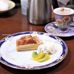 珈琲工房てらまち - 料理写真:とよみつ姫のタルト、ミルクコーヒー