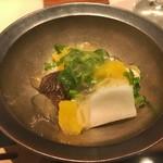 Cuisine Franco-japonaise Matsushima - 鱧焼き付け オレンジジュレのサラダ