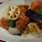 74919999 - 鶏と野菜黒酢炒め