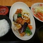 74920000 - 鶏と野菜黒酢炒めセット