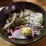 かしわや - 黄鶏うどん ¥650