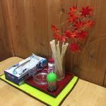 かしわや - お座敷のテーブル