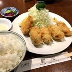 勝漫 - カキフライ定食(1,700円)&一口カツ(400円)