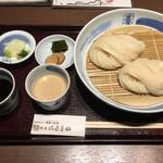 銀座 佐藤養助 - 二味せいろ(醤油つゆと胡麻味噌つゆ) ・醤油つゆと胡麻味噌つゆ 1,430円