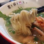 74925270 - 清澄鶏塩らーめん 麺リフト