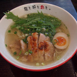 麺屋彩々 - 清澄鶏塩らーめん 税込780円