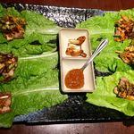 韓国料理 土火土火 - 豚三枚肉バラ焼き(サムギョプサル)