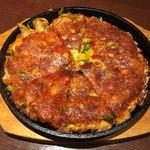韓国料理 土火土火 - チーズキムチチヂミ