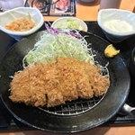とんかつや漫遊亭 - 黒豚ロースかつ定食(¥980 税抜)
