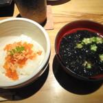 銀座和乃匠 - 鮭イクラご飯&お味噌汁