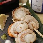 菜彩 - 【魚串】 帆立焼き炙り 330円
