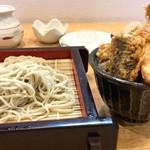 響 - 料理写真:ランチのせいろ&ミニ野菜天丼