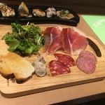 Seiyouryourijurusu - 前菜のハム盛り合わせ