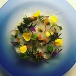 紫さくら - 白身魚カルパッチョ