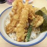 さん天 - 料理写真:海老と鶏の天丼