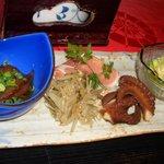 SAIRAKU - 前菜盛り合わせ1050円