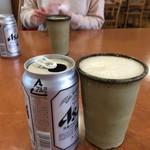 グリーンテラス - ドリンク写真:缶ビールだと¥300ちゃんとコップも用意してくれる(^^)