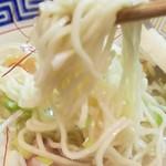 永坊 - 塩ラーメン 麺アップ