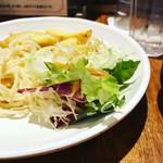 麺牛 - ジャーマンポテト美味しい。