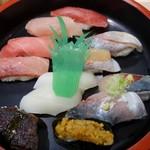 廻転寿司 海鮮 - (2017/10月)「まぐろまんぷく券」のお寿司