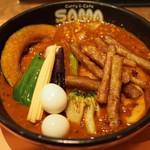 SAMA - ひき肉・野菜たっぷりカリー + 納豆(20)
