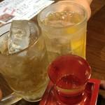 かしわ焼肉 ガラクタ酒場 - 乾杯♪