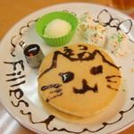 メイド喫茶 フィーユ - お絵かきホットケーキ