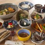 香風 - 山菜コースのお写真です。