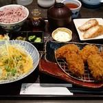 Tonkatsuhamakatsu - かきふらい膳:1,717円